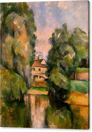 Paul Cezanne Giclee Print Country House by River Giclee Print