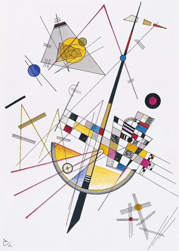 Wassily Kandinsky Delicate Tension Giclee Canvas Print